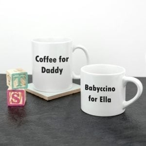 Personalised Daddy & Me Tea Time Mugs