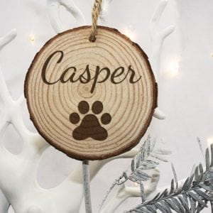 Personalised Engraved Family Cat Christmas Tree Decoration
