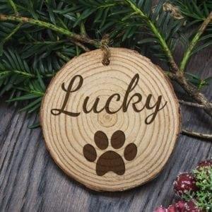 Personalised Engraved Family Dog Christmas Tree Decoration