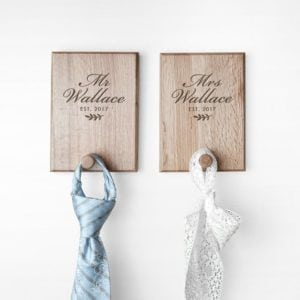 Personalised Established Couples Peg Hook