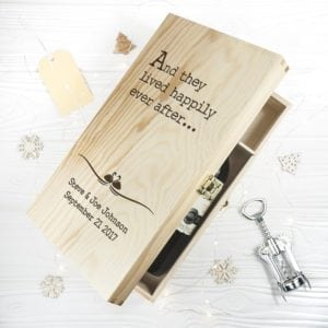 Personalised Fairy Tale Wedding Wine Box