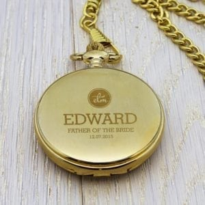 Personalised Groomsman Monogram Collection Pocket Watch