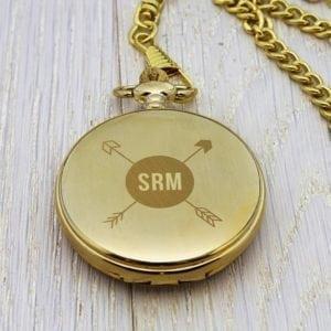 Personalised Groomsman Monogramed Pocket Watch