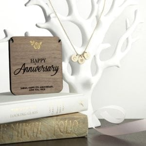 Personalised Happy Anniversary Necklace & Keepsake
