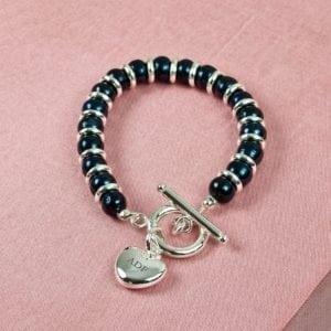 Personalised Harmony Bracelet Rainbow Pearl