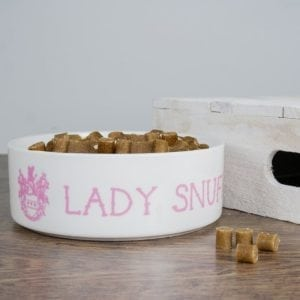 Personalised Lady Cat Bowl