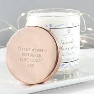 Personalised Lavender & Ylang Ylang Candle With Copper Lid