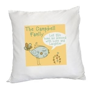 Personalised Let this home be Blessed - Square Cushion Cover