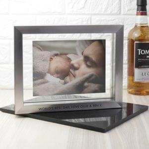 Personalised Metallic Grey Photo Frame
