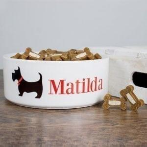 Personalised Scottie Dog Food Bowl