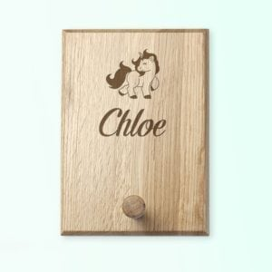 Personalised Unicorn Peg Hook