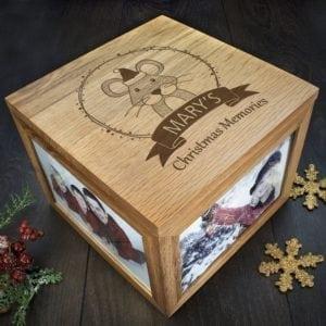 Personalised Woodland Mouse Christmas Memory Box