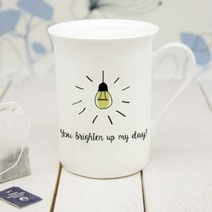 Personalised You Brighten Up My Day Bone China Mug