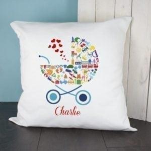 Pram Baby Memory Cushion Cover - Boy