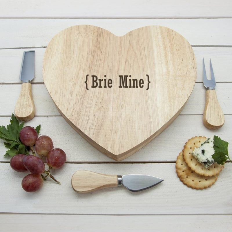 Romantic Brackets Heart Cheese Board