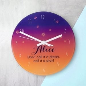 The Desert At Dusk Personalised Wall Clock