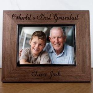 Worlds Best Grandad Engraved Photo Frame