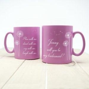 You and Me Personalised Bridesmaid Proposal Mug