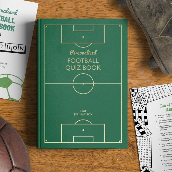 Personalised Football Quiz Book