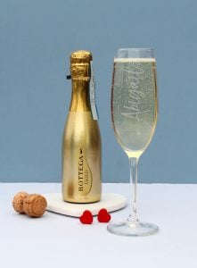 200ML Personalised GOLD BOTTEGA & FLUTE SET