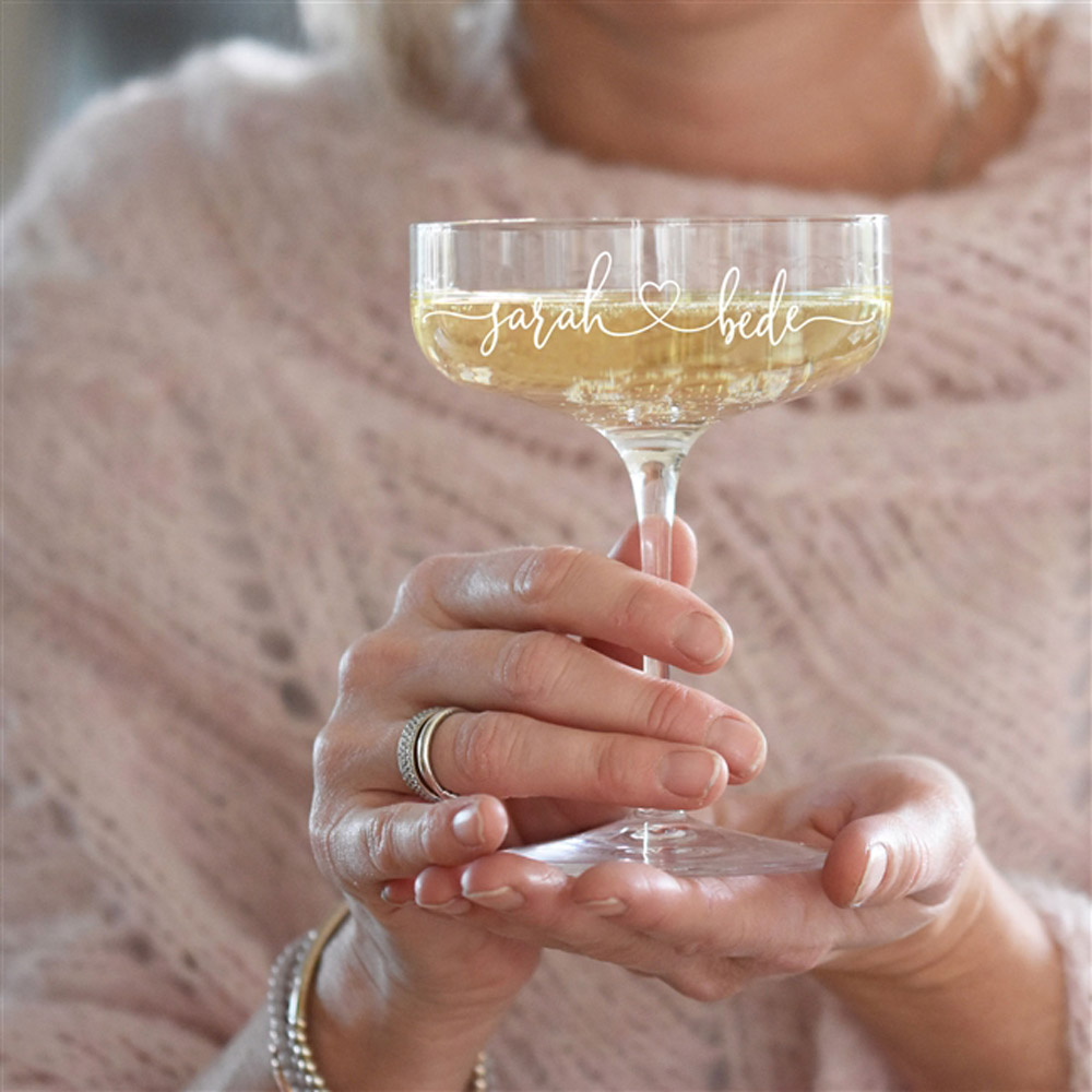 Couples Champagne Coupe Glass