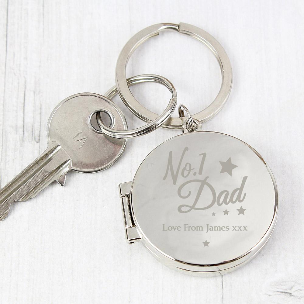No.1 Dad Photo Keyring