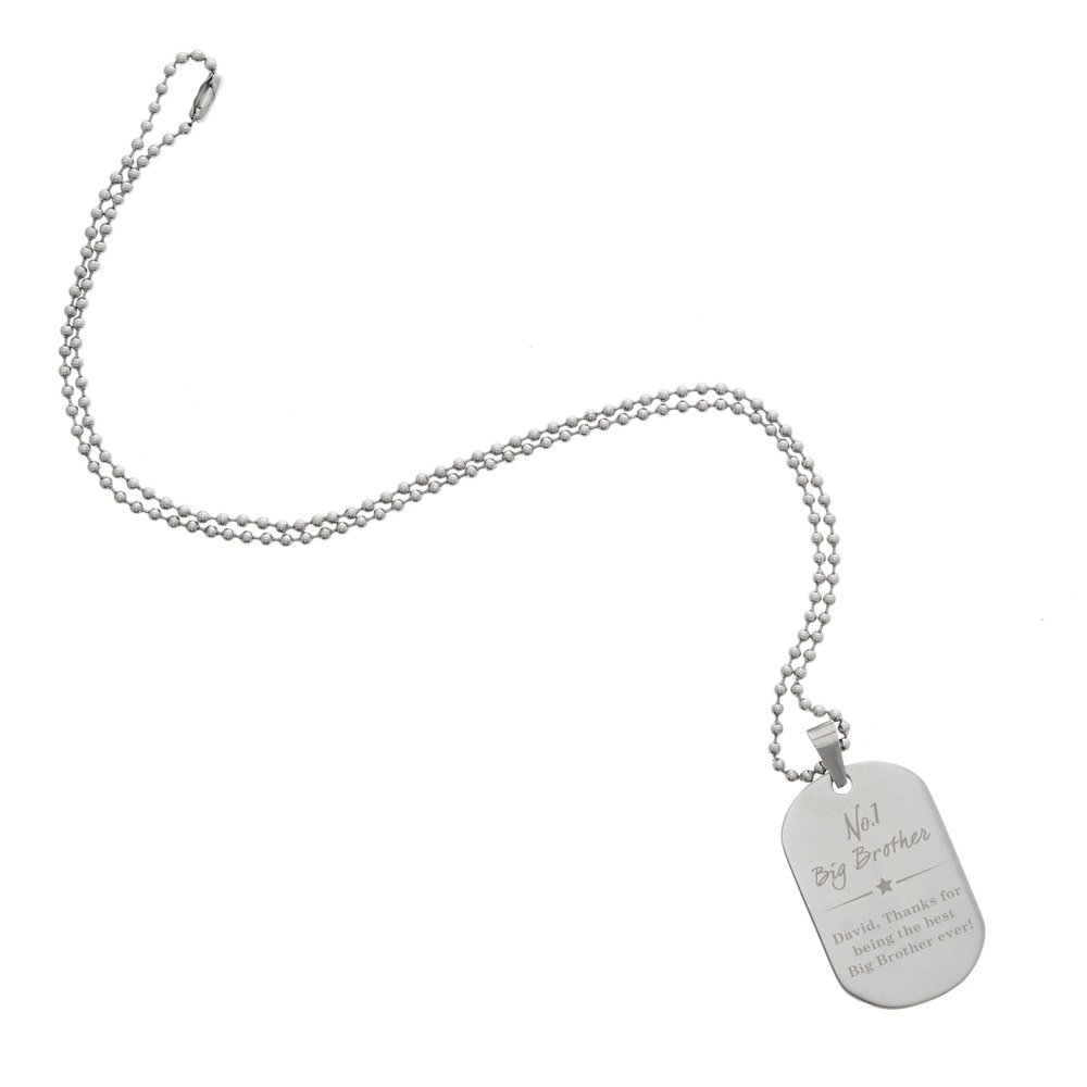 No.1 Stainless Steel Dog Tag Necklace