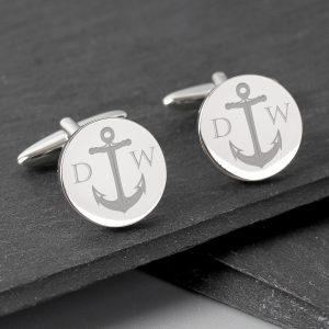 Anchor Round Cufflinks
