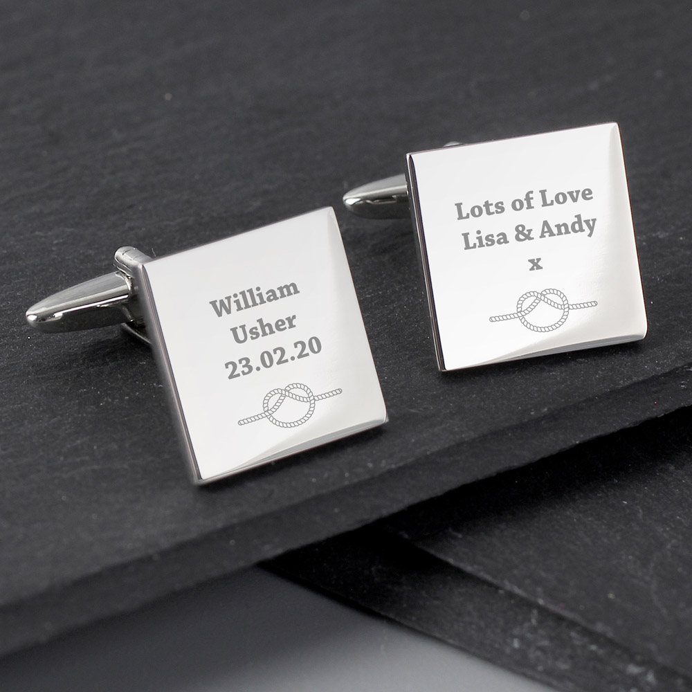Tie the Knot Square Cufflinks