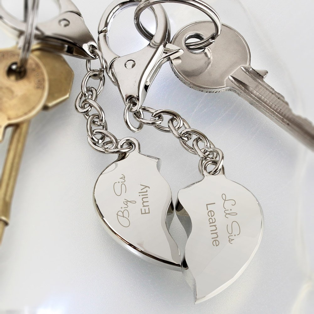 Any Message Two Hearts Keyring