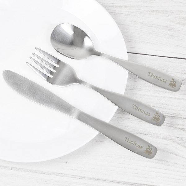 3 Piece Train Cutlery Set