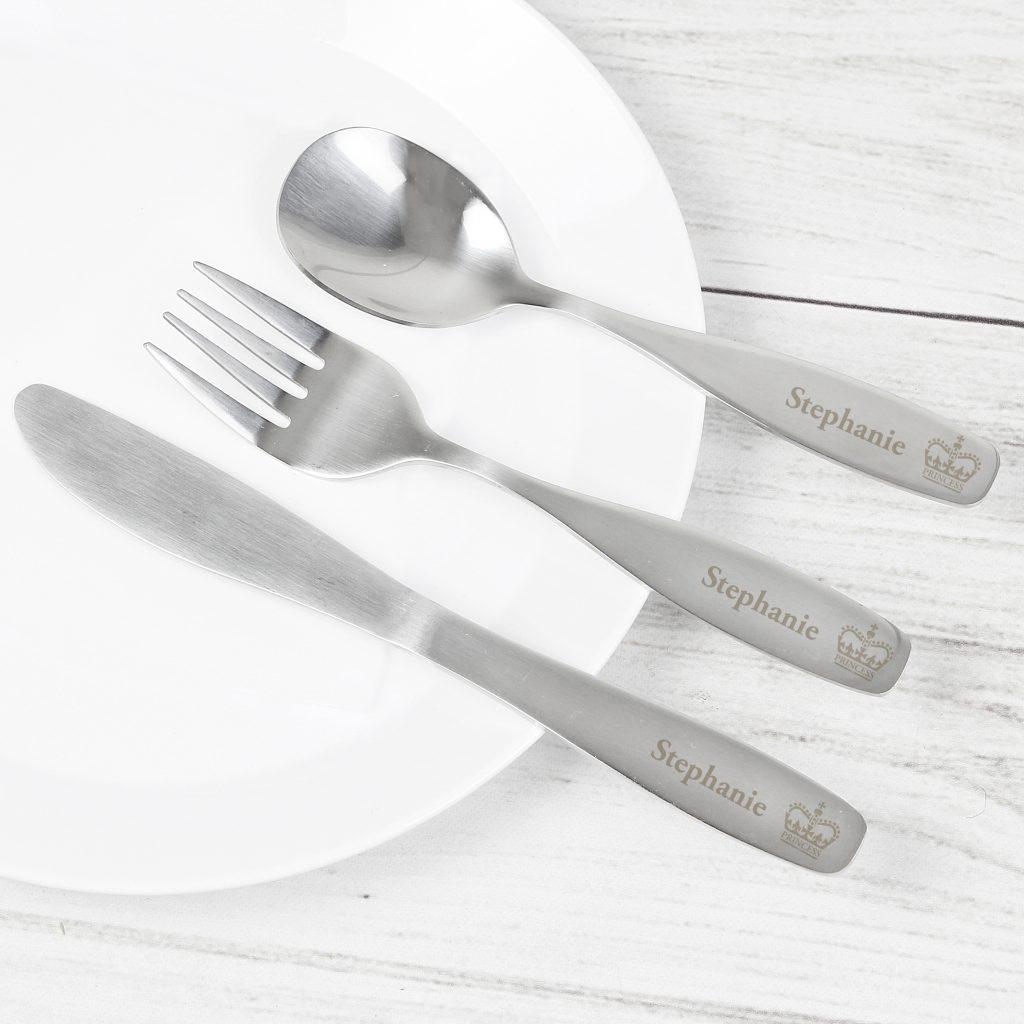 3 Piece Princess Cutlery Set