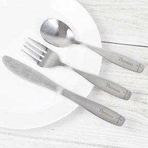 3 Piece Cross Cutlery Set
