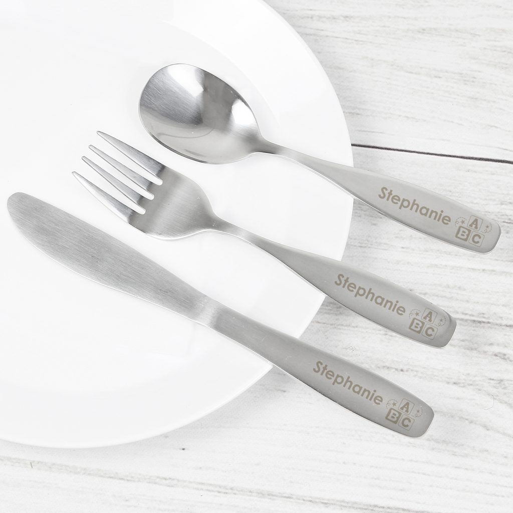 3 Piece ABC Cutlery Set