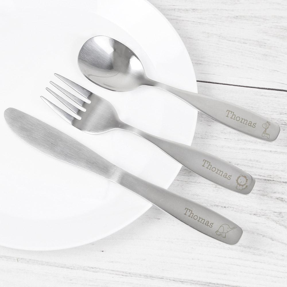 3 Piece Hessian Friends Cutlery Set