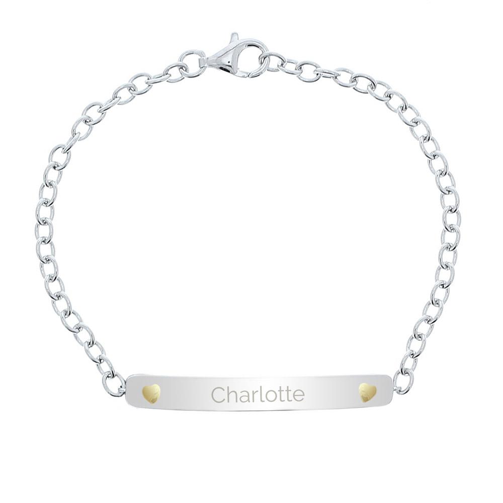 Sterling Silver and 9ct Gold Bar Bracelet