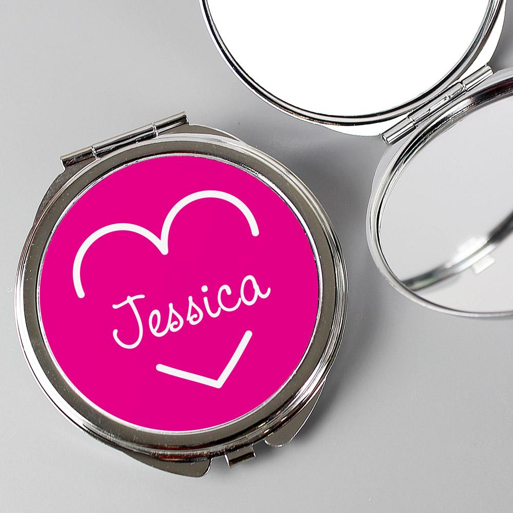 Pink Name Island Compact Mirror