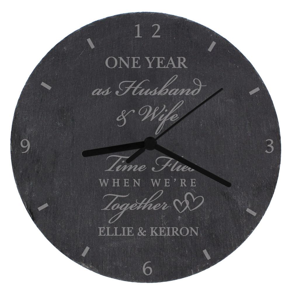 Anniversary Slate Clock