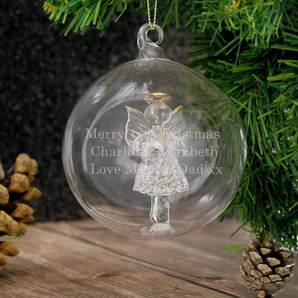 Glass Christmas Angel Bauble