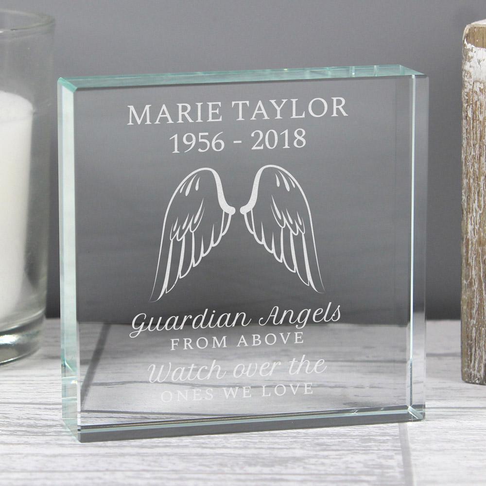 Guardian Angel Wings Large Crystal Token