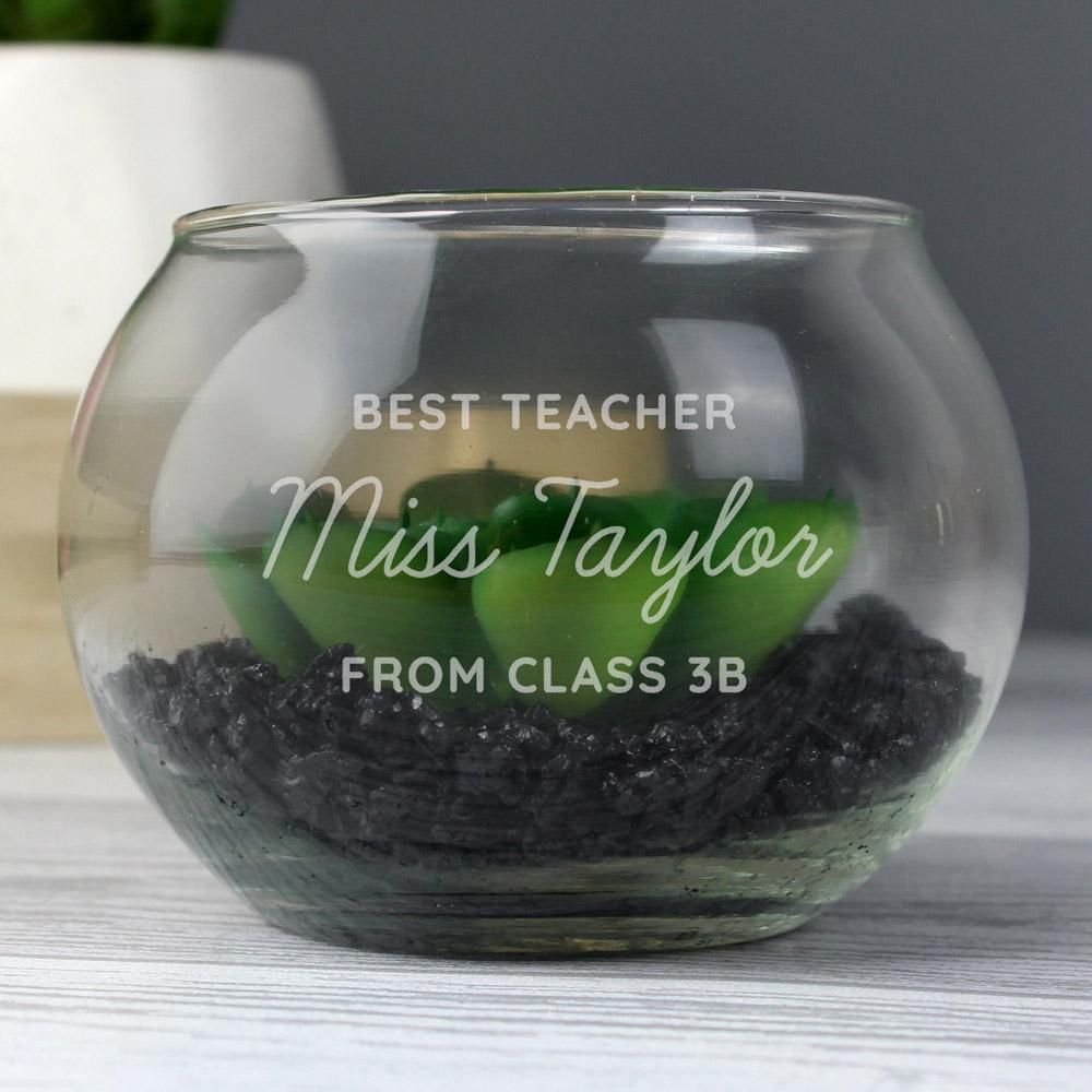 Any Message Glass Terrarium