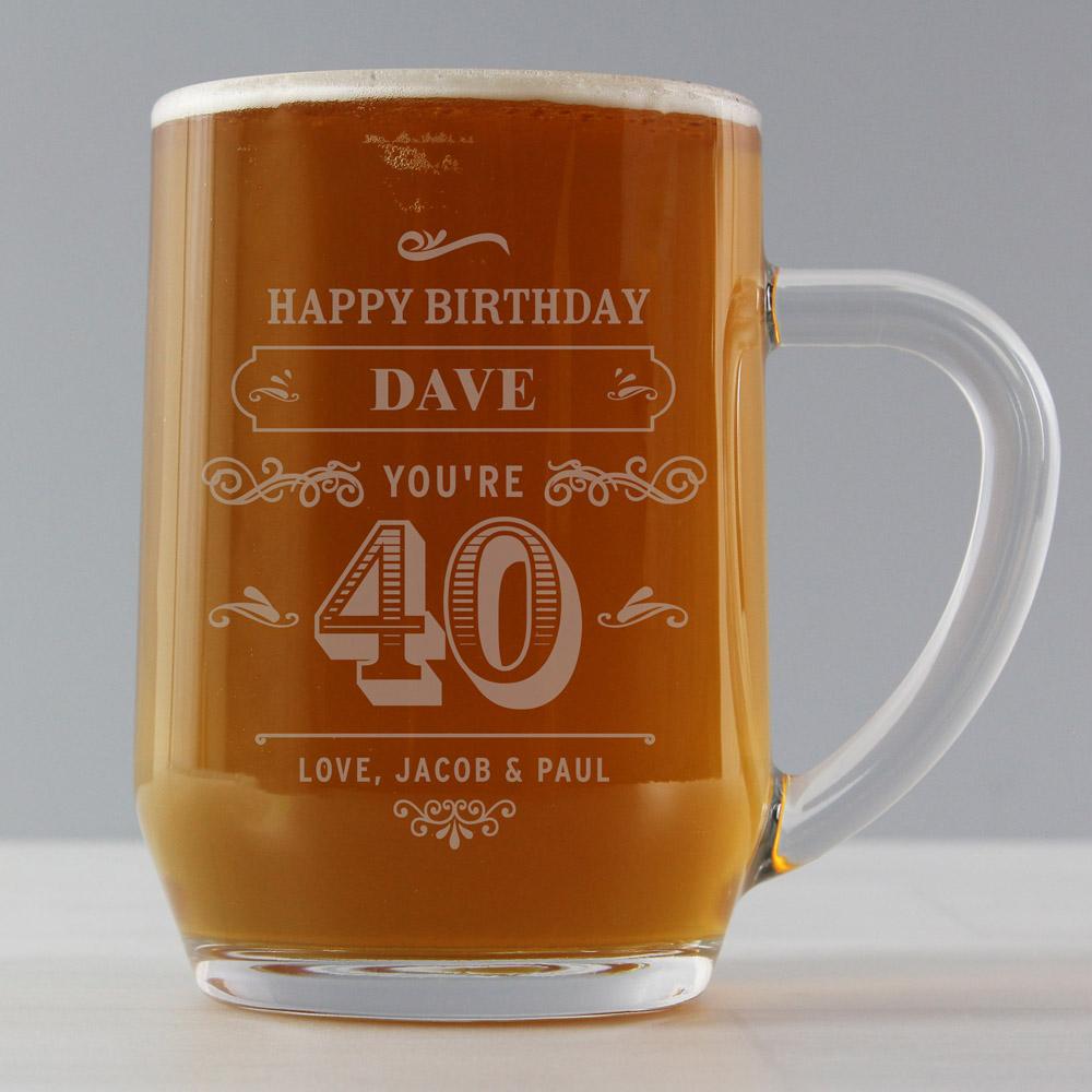 Birthday Vintage Typography Tankard