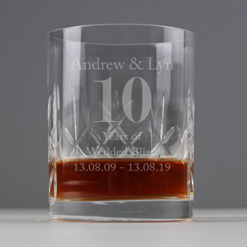 Big Age Cut Crystal Whisky Tumbler