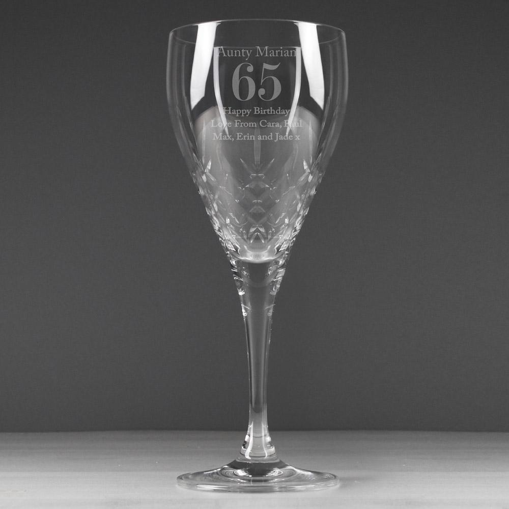 Big Age Cut Crystal Wine Glass