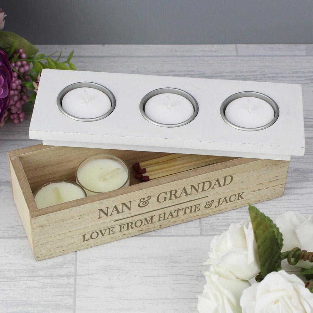 Classic Triple Tea Light Box