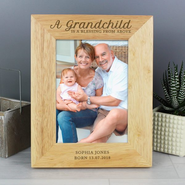 A Grandchild is a Blessing' 5x7 Wooden Photo Frame