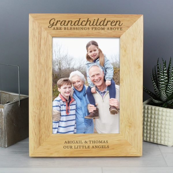 Grandchildren are a Blessing' 5x7 Wooden Photo Frame