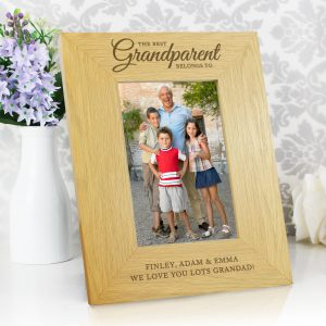 Oak Finish 'The Best Grandparent' 4x6 Photo Frame