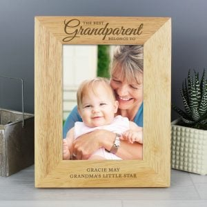 The Best Grandparent' 5x7 Wooden Photo Frame