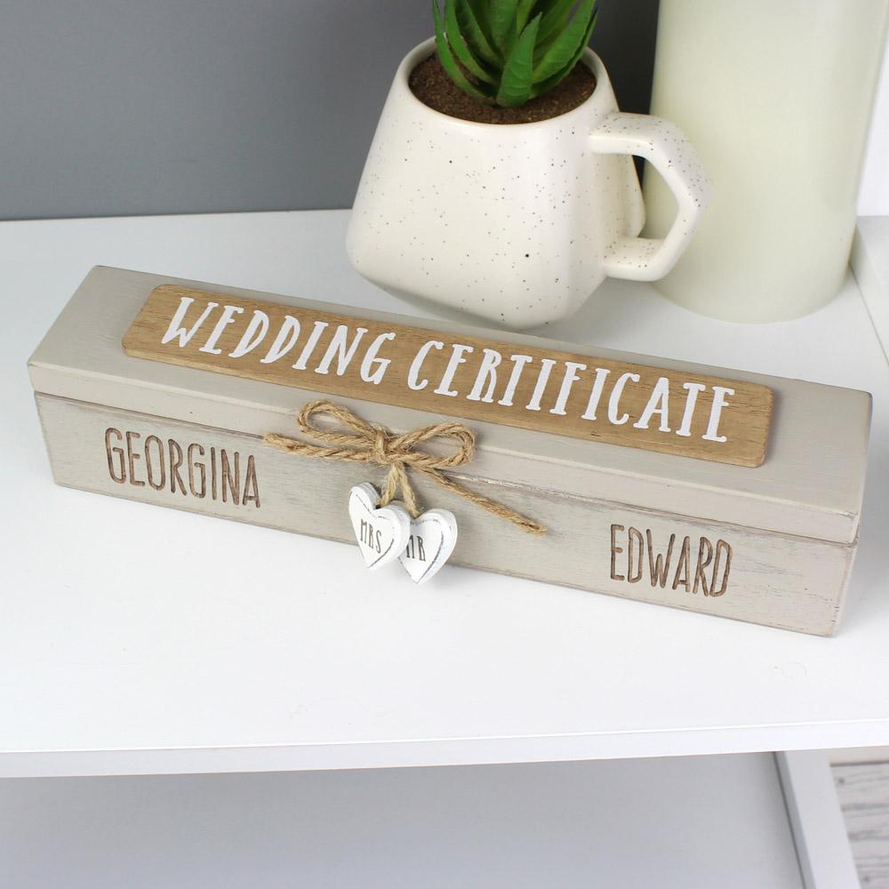 Wooden Wedding Certificate Holder